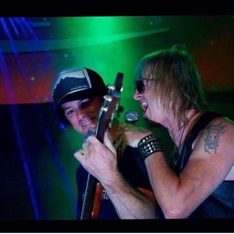 Legendary shred @k7jones rocking with legendary rocker Jeff Martin whilst rocking the  legendary AV7 Teton Dusk Trucker. #belegendary #avalon7 #liveactivated www.avalon7.co