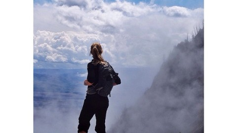 Adventurer and artist @kyehalpin looking for gateways through the clouds on the way to Lake of the Crags in the Tetons. Check out the full photo essay at www.avalon7.co #avalon7 #liveactivated