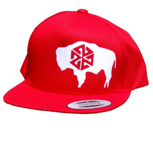 AVALON7 Roam Bison Snapback hat red