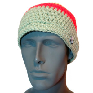 AVALON7 hand crocheted RASTA beanie hat