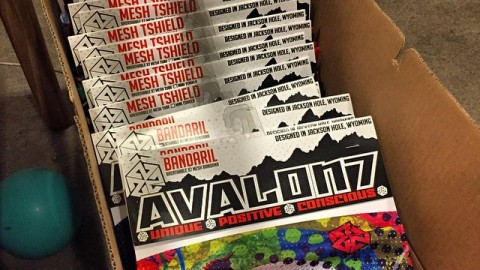 It's really amazing owning my own company, but this time of year when all the orders for shops are due I wish I had some robot slaves to help me make stickers and merchandise all this stuff. The snowboarder sweatshop is in full effect. #avalon7 #snowboarding #facemasks #idratherberiding www.avalon7.co