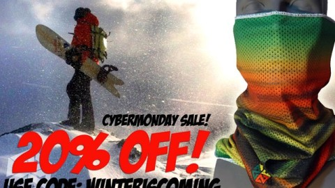 CYBERMONDAY SALE! 20% off everything at www.avalon7.co!  Use the code WINTERISCOMING at checkout.  #avalon7 #snowboarding #facemasks #jacksonhole