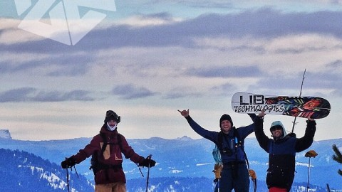 Corey, Jeremy and Nat celebrate the end of another successful adventure in the JH backcountry. #avalon7 #liveactivated #snowboarding www.avalon7.co