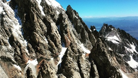 Out looking for the gateways today. View from the Middle Teton. They have cell service here.  #avalon7 #liveactivated #wakeupearlyandclimbstuff www.avalon7.co