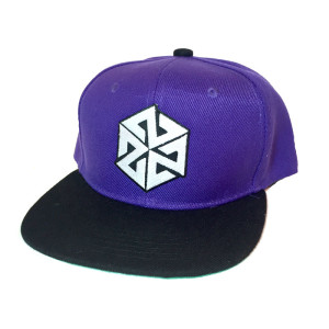 Kids size Purple AVALON7 snapback hat