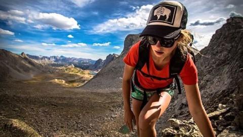 Boulder field blastin' badass @brittmumma in the Wind River range rocking one our WyoPride SnapBack hats. Photo by @dirkcollins  #AV7Renegade #avalon7 #liveactivated #adventuremore www.avalon7.co