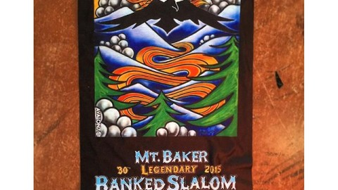 I am super hyped on how this year's #legendarymtbakerbankedslalom Co.Lab faceshields came out!  Featuring the poster art by one of my all time heroes- Jamie Lynn! If you got one of these bad boys count yourself lucky, they are super limited edition, and only got given out to the fastest riders of the weekend.  #avalon7 #liveactivated #lbs30 #jamielynn #faceshield #snowboarding www.a-7.co