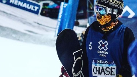 Hello my name is Chase. #doublebacon #A7Renegade @chasejosey rocking the new Fuego Faceshield while winning a Bronze medal at XGames Oslo this past week. The kid's on fire! #avalon7 #liveactivated #snowboarding www.avalon7.co