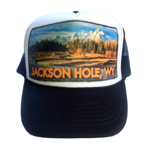 Jackson Hole Moose Junction trucker hat by AVALON7. Handcrafted in the Tetons.