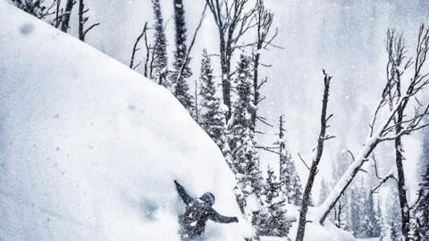 Storm days are the best days. Rider @sashamotivala explores @jacksonhole. #avalon7 #liveactivated #snowboarding www.a-7.co