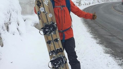 Rain snow or shine @tetonsplitboarder gets after it on the daily. @avalon7 #liveactivated #optimisticadventurer #snowboarding www.a-7.co