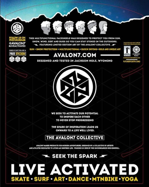 """The spark of inspiration leads us onward to a life well lived. ""  Excerpt from the back of our new #AVALON7 FaceShield retail hangcard. #seekthespark www.avalon7.co"
