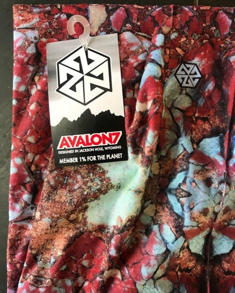 The Gros Ventre FaceShield design comes from a photo of the beautiful blue and red rocks on the bank of the Gros Ventre river in Jackson Hole by @robkingwill. It's one of our favorites!  We have tons of new limited edition designs up at www.avalon7.com, come check 'em out!  #seekthespark