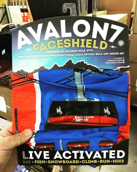Super hyped to drop off a ton of these classic Tram FaceShields off at @jacksonhole yesterday just in time for Christmas!  It's amazing how much work it takes just to get stuff ready for retail sales, and I couldn't have gotten this order done without my little crew if awesome mountain girls working through the cold nights the past week. This Christmas when you rip through the packaging of your new favorite thing, think about the people behind the scenes stuffing the boxes, tagging the items, and folding the edges. I for one am very grateful for the proletariat our there working their butts off!  #AVALON7 #liveactivated #snowboarding #skiing #facemasks www.avalon7.com