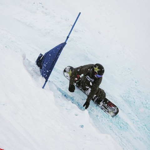 Renegade @chasejosey just showed up to kick ass at the @jacksonhole Banked Slalom in Dicks Ditch.  Halfpipe, jumps, banks the kids rules it all. #dicksditch #bankedslalom #staystoked #snowboarding