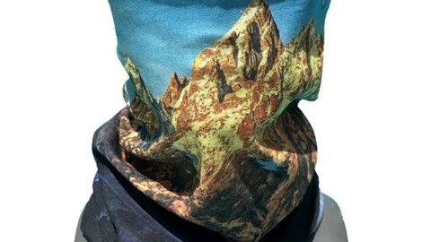 New! The Teton Sunrise Faceshield features an photo of the Grand Tetons at sunrise from the Snake River Overlook, first made famous by Ansel Adams.  Wear it as a facemask or headband on your next spring adventure!  Available at http://www.avalon7.com #avalon7 #staystoked